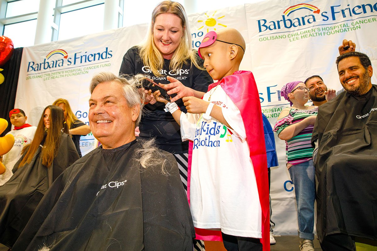 Mayor Henderson and Dozens From the Swfl Community Go Bald During Pediatric Cancer Month