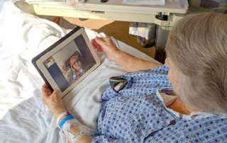 Patient using FaceTime