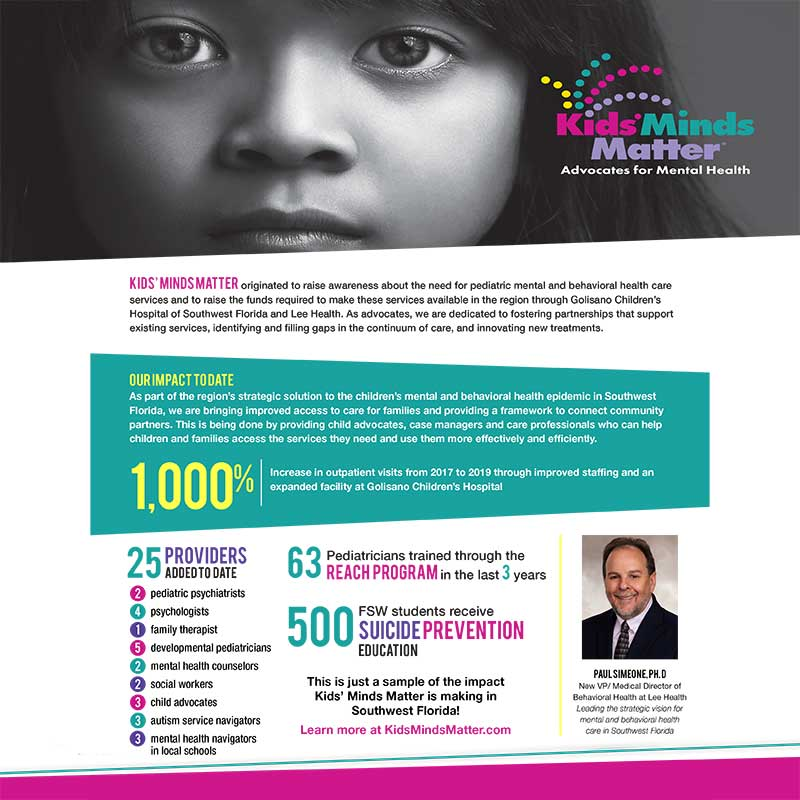 Kids Minds Matter Impact Flyer Cover